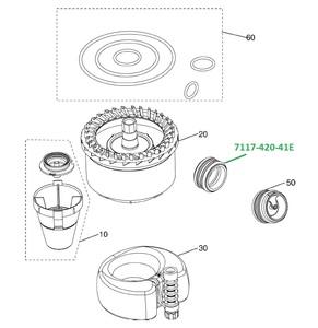 Клапан для сепаратора CS1  (4 шт в уп.) 7117-420-41E фото