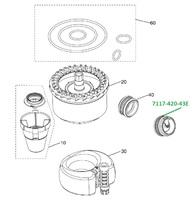 Клапан для сепаратора CS1 (2 шт в уп.) 7117-420-43E