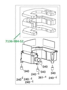 Комплект шумопоглощающих уплотнителей VS600/VS900/VS1200 7136-984-52 фото