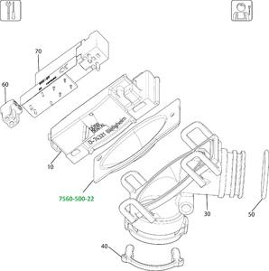 Мембрана к клапану выбора отсасывающей системы VS600, VS900 7560-500-22 фото