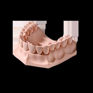 Гипс стоматологический ZERO stone (коричнево-золотой) фото